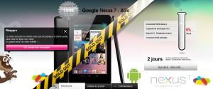 Nexus 7 sur qoqa.fr